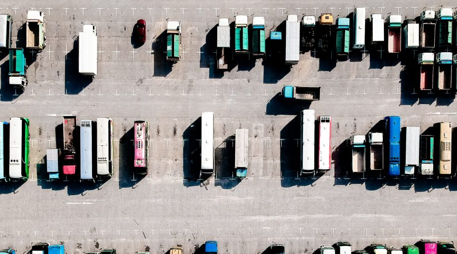 guide to road haulage vehicles - haulage vehicle aerial photo
