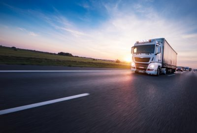 European Freight Forwarding Company - Lorry Driving on the Right Side of the Road